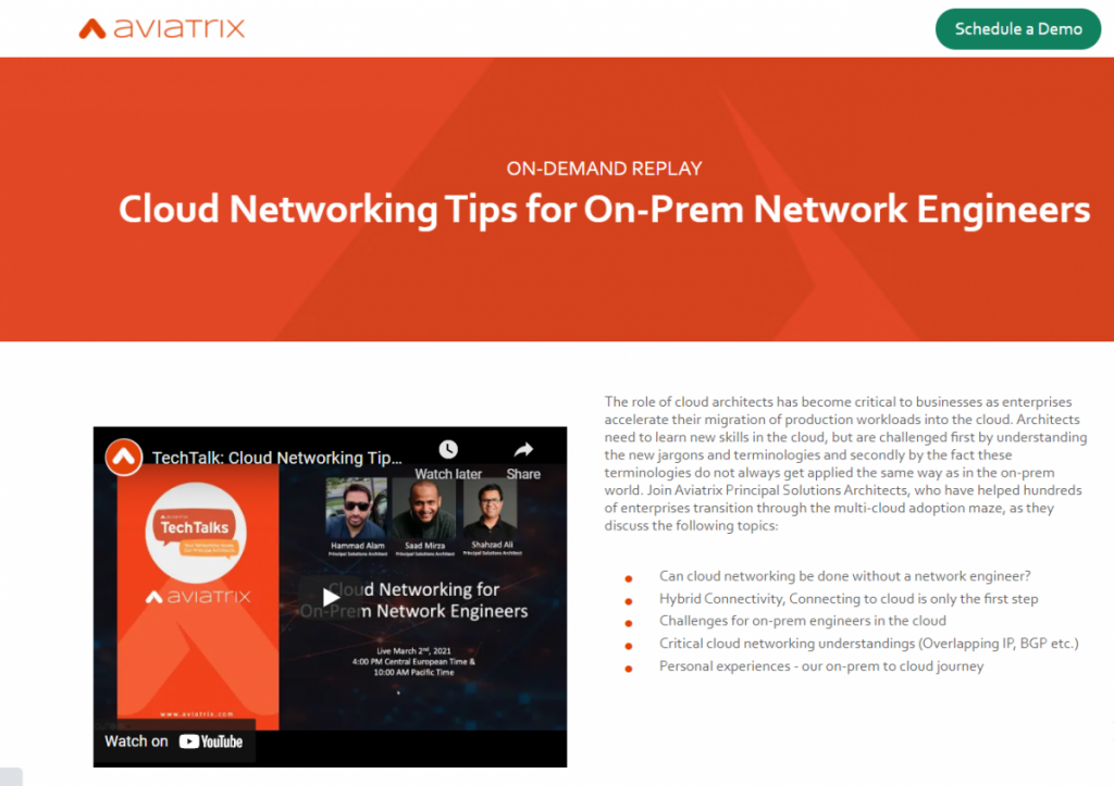 Cloud Networking Tips for On-Prem Network Engineers