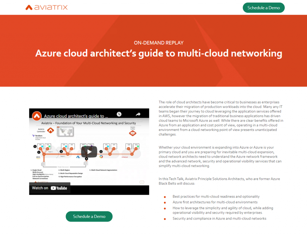 Azure cloud architect's guide to multi-cloud networking