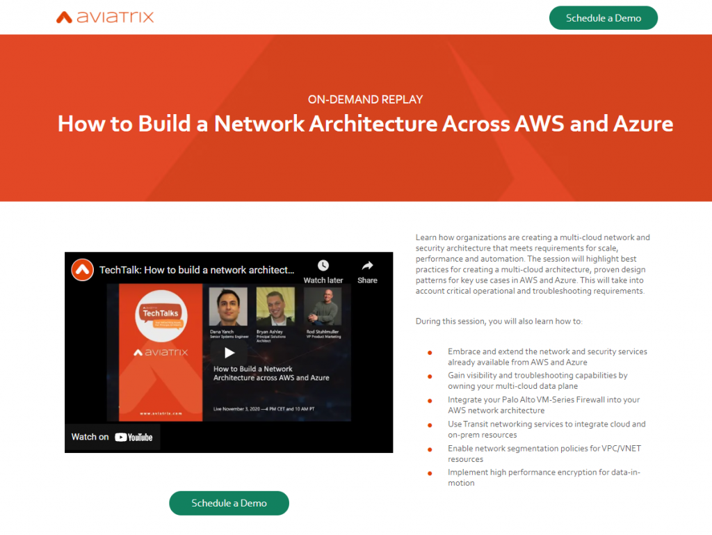 How to Build a Network Architecture Across AWS and Azure