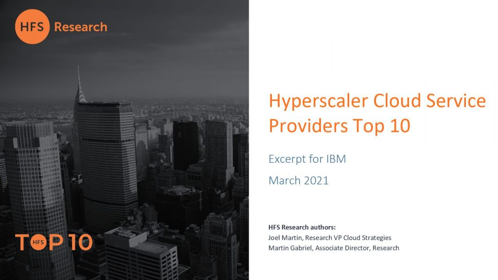 HFS Hyperscaler Cloud Service Providers Top 10