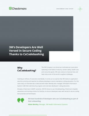 3M's Developers Are Well Versed in Secure Coding Thanks to CxCodebashing