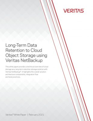 Long-Term Data Retention to Cloud Object Storage with Veritas NetBackup