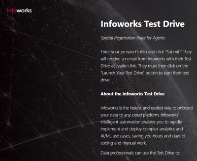 Infoworks Test Drive