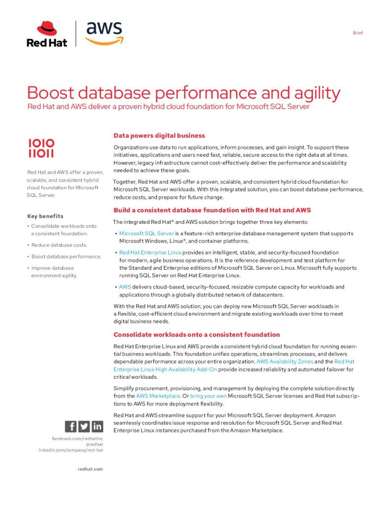 Boost database performance and agility
