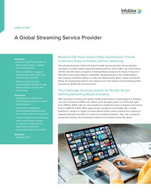 BloxOne® DDI Helps Global Video Giant Ensure That Its Customers Enjoy Unlimited, Ad-free Streaming