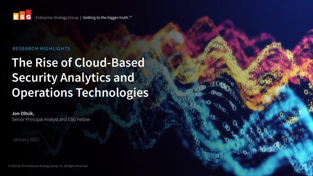 The Rise of Cloud-Based Security Analytics and Operations Technologies
