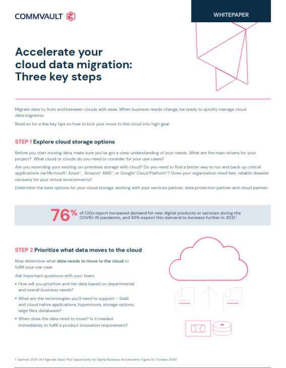 Accelerate your cloud data migration: Three key steps