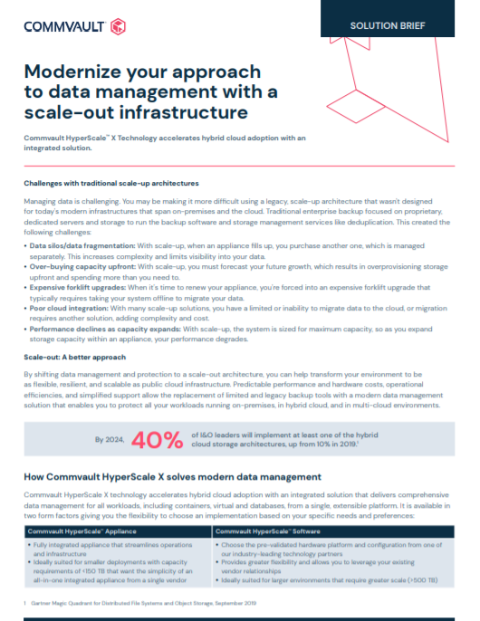 Modernize your approach to data management with a scale-out infrastructure