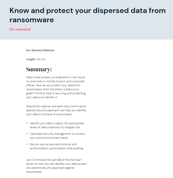 Ransomware recovery files – 2 of 5: Know and protect your dispersed data from ransomware
