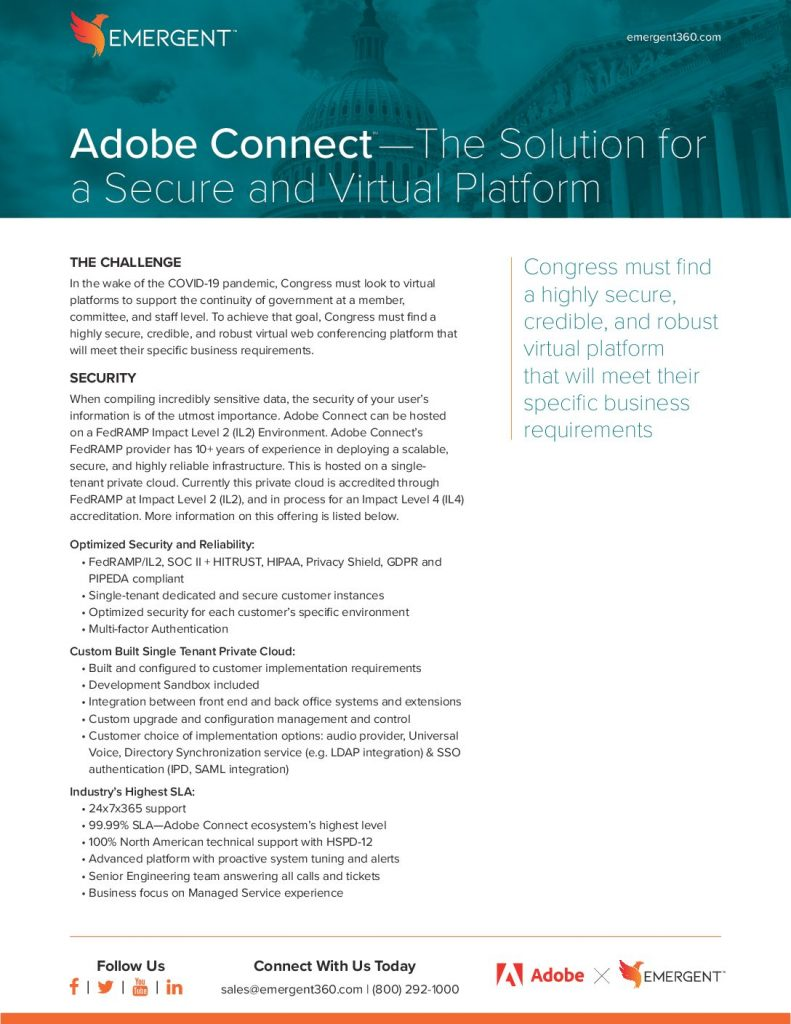 Adobe Connect—The Solution for a Secure and Virtual Platform