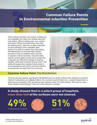 Common Failure Points in Environmental Infection Prevention