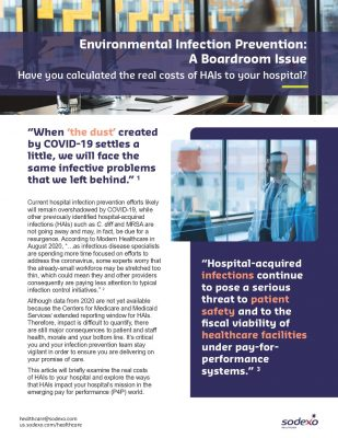 Environmental Infection Prevention: A Boardroom Issue