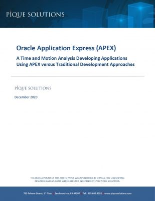 Study: Build Apps 38X Faster with Oracle APEX