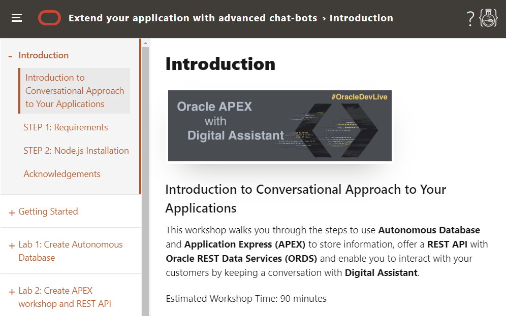 Hands-On Lab: Have a Conversation with Customers Using Digital Assistant