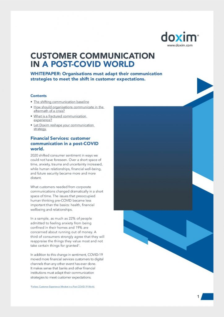 Customer Communication In A Post-Covid World