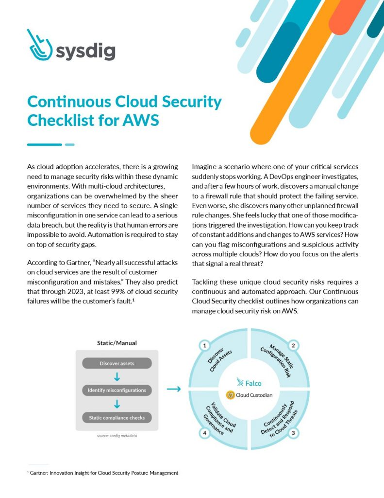 Continuous Security for AWS Cloud and Containers