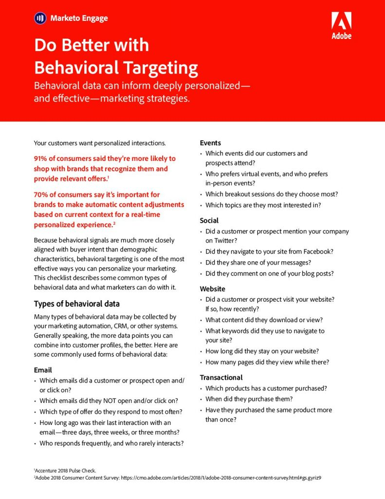 Do Better with Behavioral Targeting