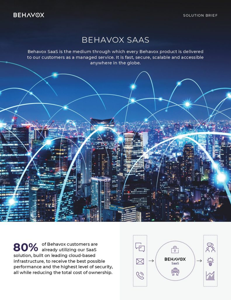 WHY LEADING FINANCIAL INSTITUTIONS CHOOSE BEHAVOX SAAS