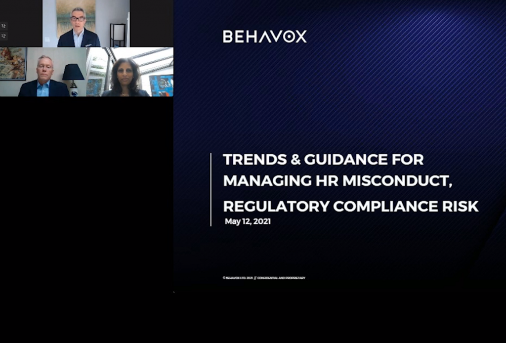 TRENDS  and  GUIDANCE FOR MANAGING HR MISCONDUCT, REGULATORY COMPLIANCE RISK