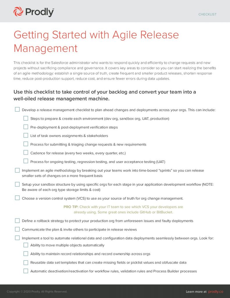 Getting Started with Agile Release Management
