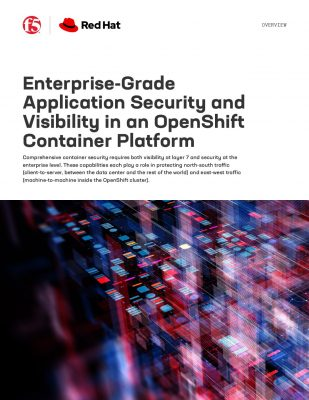 Enterprise- Grade Application Security and Visibility in an OpenShift Container Platform
