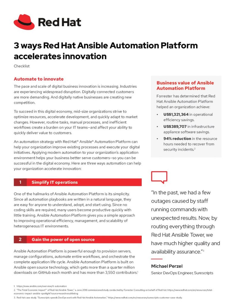 3 ways Red Hat Ansible Automation Platform accelerates innovation