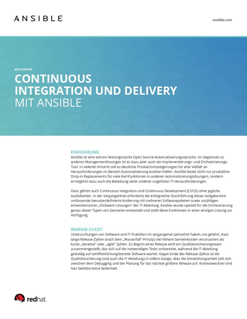 Continuous Integration Und Delivery MIT Ansible