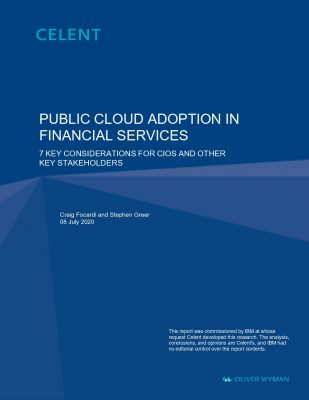BANKING Celent - 7 Key Considerations of Public Cloud adoption in Financial Services