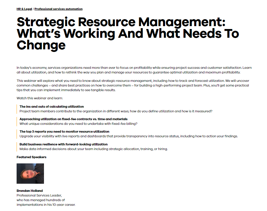 Strategic Resource Management: What's Working And What Needs To Change