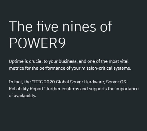 The Five Nines of POWER9