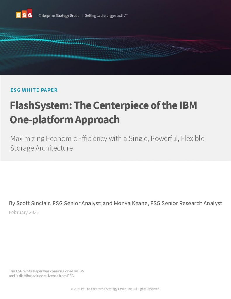 FlashSystem: The Centerpiece of the One- Platform Approach