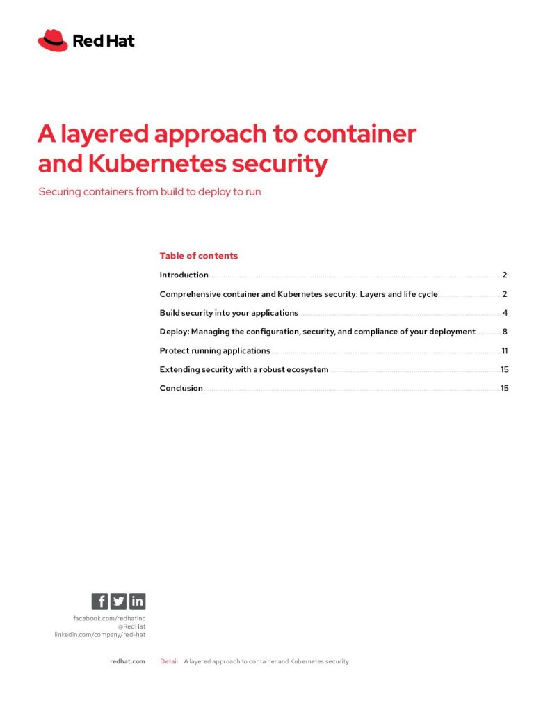 A Layered Approach to Container and Kubernetes Security