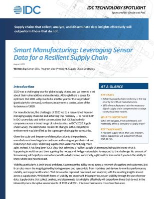 Smart Manufacturing: Leveraging Sensor Data for a Resilient Supply Chain