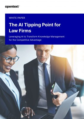 The AI Tipping Point for Law Firms