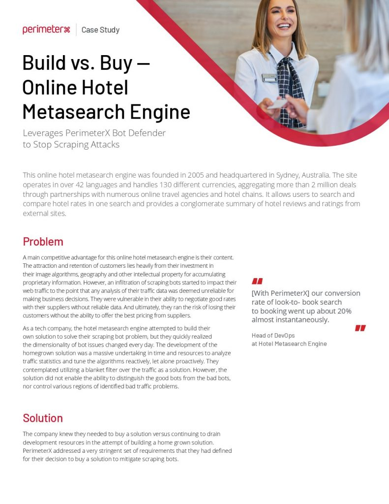 Hotel Metasearch Engine Case Study