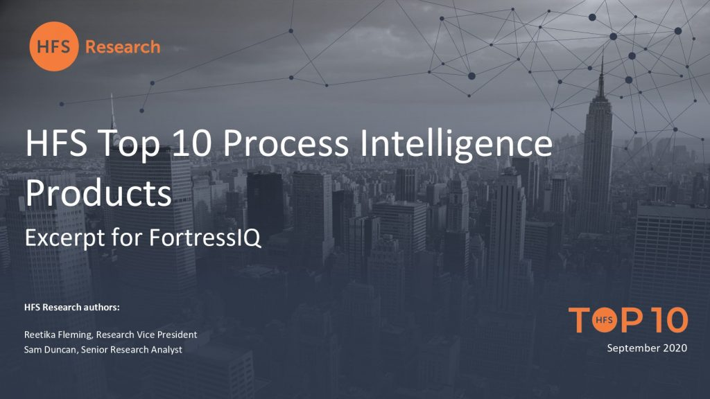 HFS Report – Top 10 Process Intelligence Products