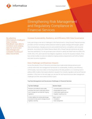 Strengthening Risk Management and Regulatory Compliance in Financial Services