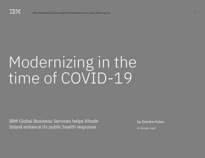Modernizing in the time of COVID-19