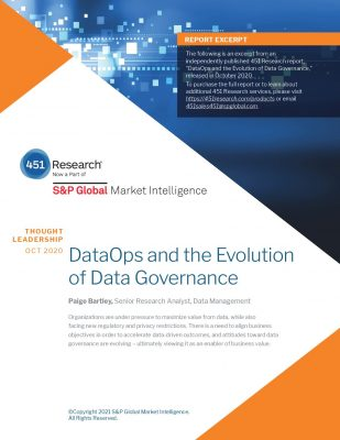 451 Research: DataOps and the Evolution of Data Governance