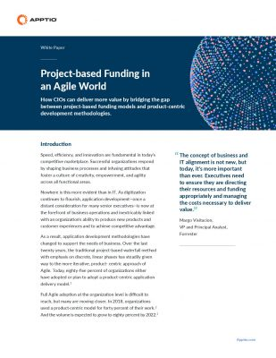 Project-based Funding in an Agile World