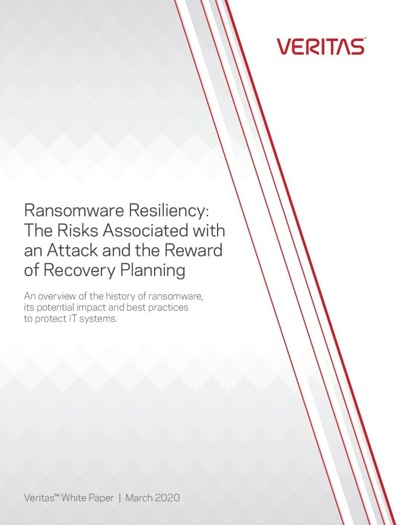 Ransomware Resiliency Risks and Rewards
