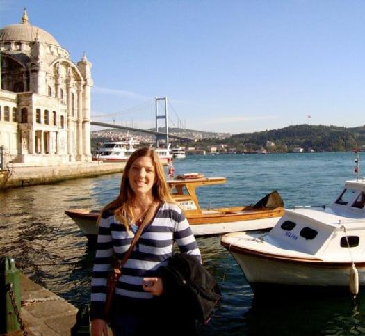 Greta Hazlett in Istanbul: photo courtesy of Greta Hazlett