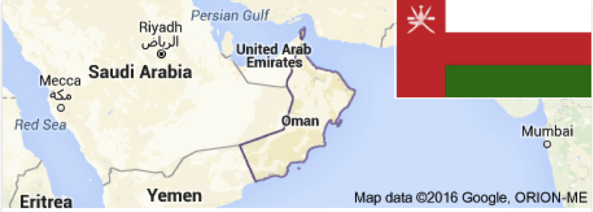 Sultanate of Oman Map