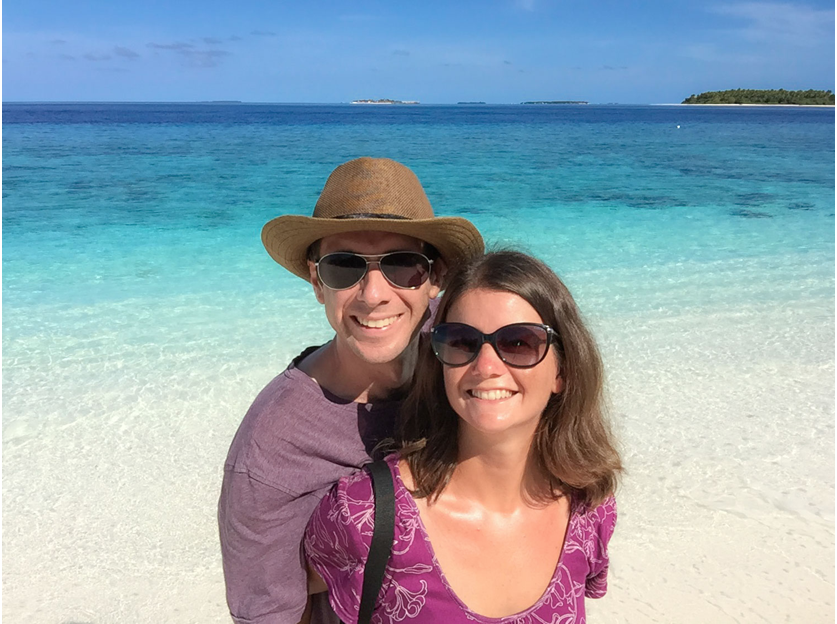 Erin McNeaney and Simon Fairbairn in the Republic of Maldives