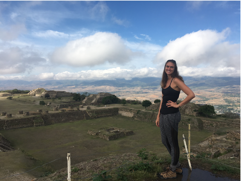 Whitney Stewart in Monte Alban, Mexico