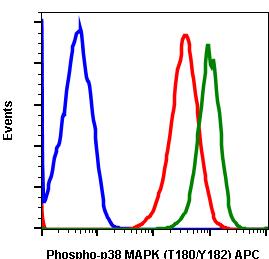 Phospho-p38 MAPK (Thr180/Tyr182) (Clone: E3) rabbit mAb APC conjugate