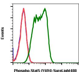 Phospho-Stat5 (Tyr694) (Clone: G11) rabbit mAb SureLight 488 conjugate