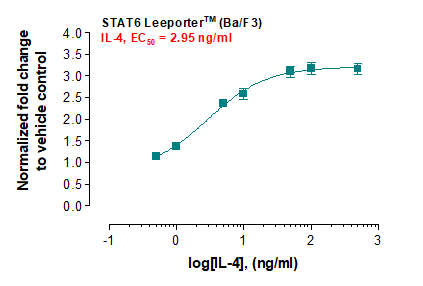 STAT6 Leeporter™ Luciferase Reporter-Ba/F3 Cell Line