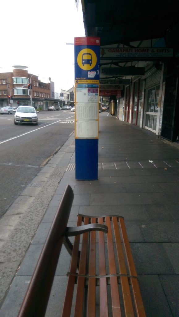 The view from this bus stop is not great.