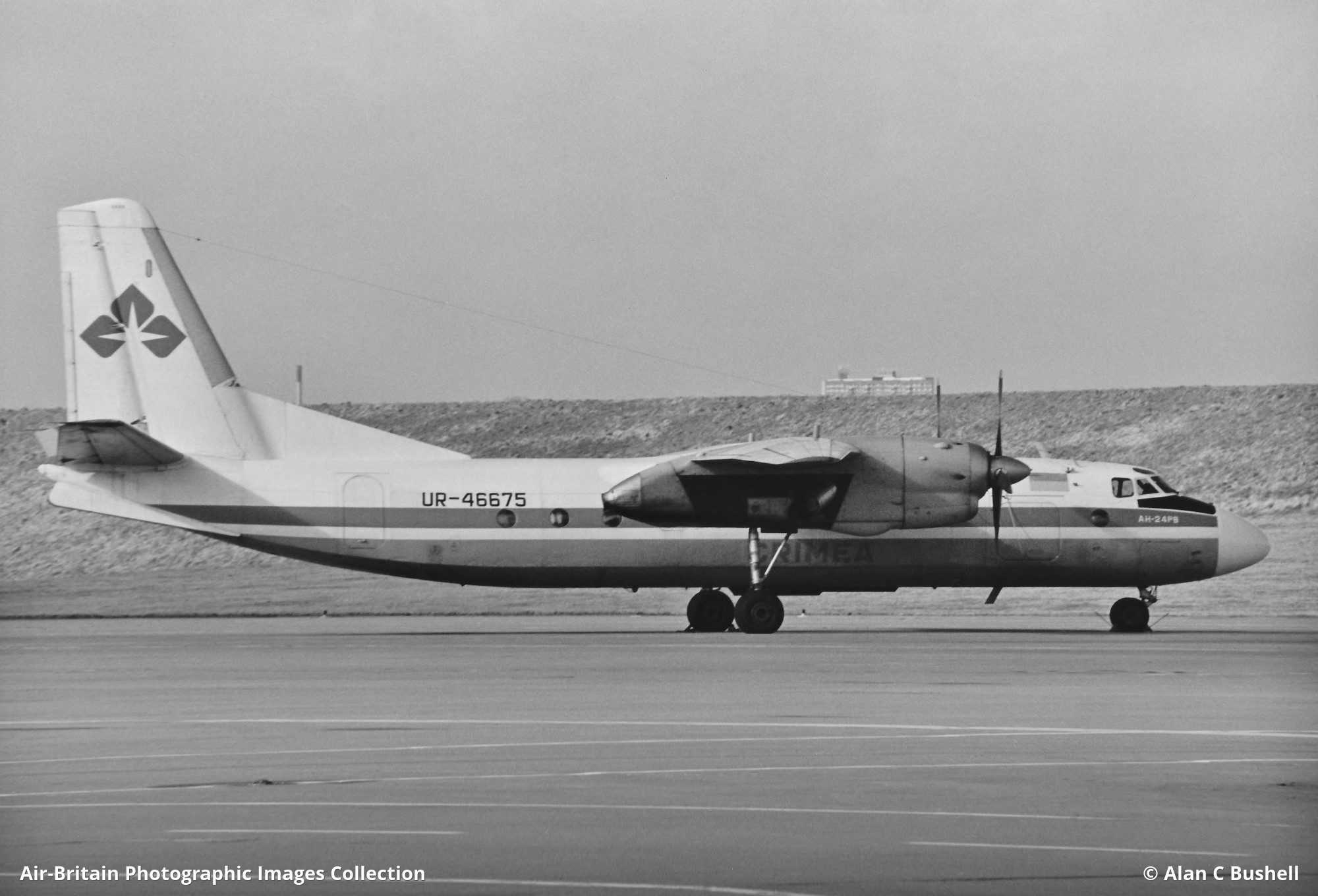 UR-46675 · Antonov An-24RV · Crimea Air (OR / CRF) · Birmingham -  International (Elmdon) (BHX / EGBB), UK - England · Alan C Bushell -  27/02/1994